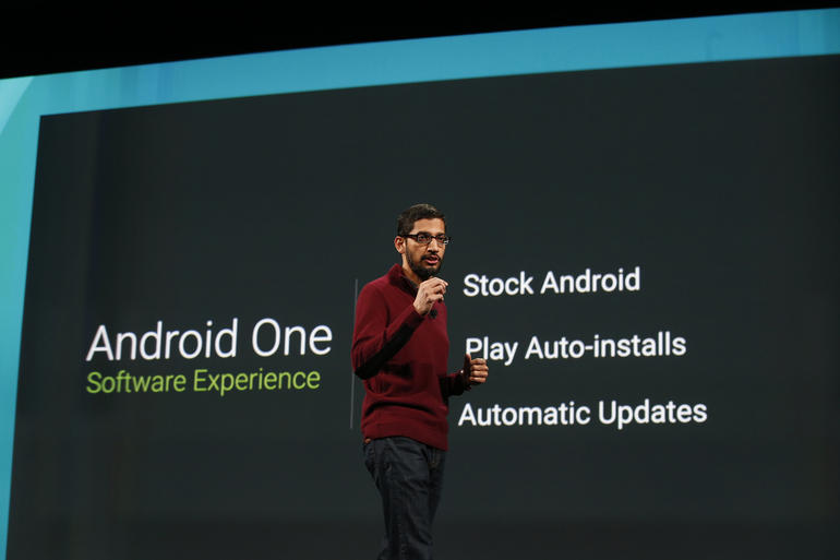 Representative of the Android latest release, the Android One.