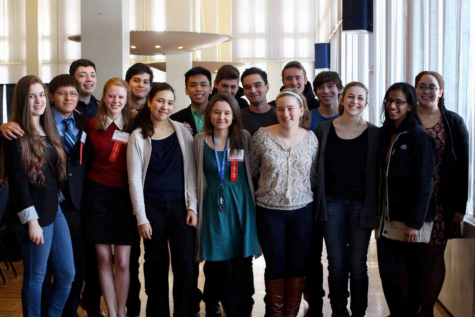 Ossining Science Research students representing Westchester County at the New York 